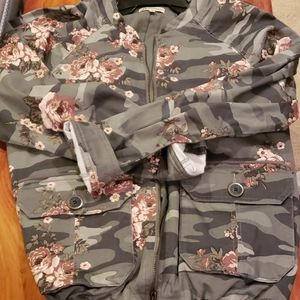 Camo with roses jacket